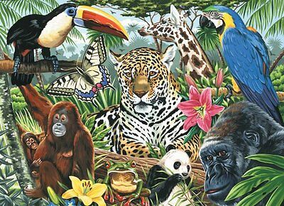Royal & Langnickel Painting by Numbers Artist Canvas Series Zoo Montage Large