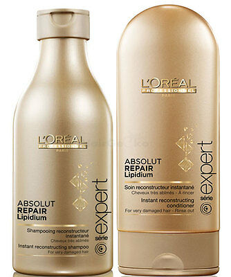 Loreal Absolut Repair Lipidium Shampoo 250ml + Conditioner 150ml