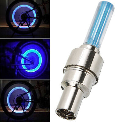 4x Blue LED Flash Tyre Wheel Valve Cap Light Lamp for Car Motorcycle Bicycle CA