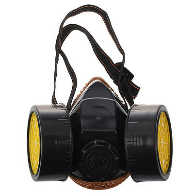 Double Cartridges Anti-Dust Paint Respirator Mask for Industrial Gas W1