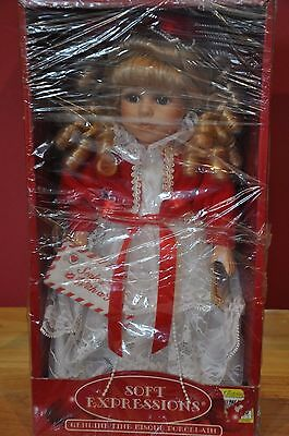 """13"""" Soft Expressions Geniune Fine Bisque Porcelain Doll with Box"""