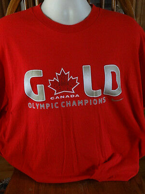 Nike Team Canada Olympic Gold T-Shirt Vancouver 2010 size XL
