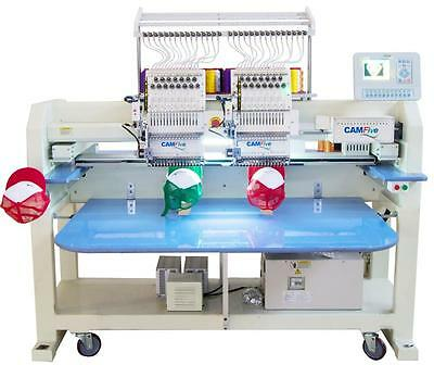 CAMFive CFHS-CT1502 15 color cap & flat Embroidery Machine large embroidery area