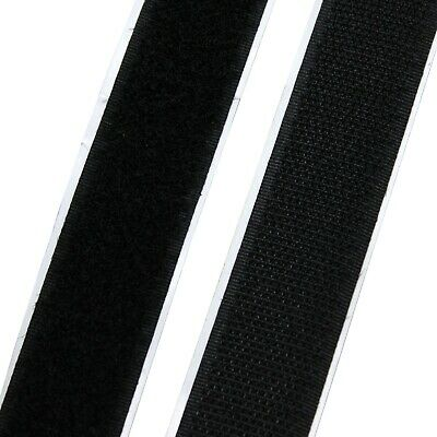 1 yard x 2 inch wide Black Adhesive Hook & Loop Fastener Tape Roll Sewing Crafts