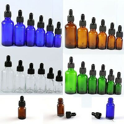 5-50Pcs 5-100ml Glass Essential Oil Bottle With Eye Dropper Aromatherapy Bottles
