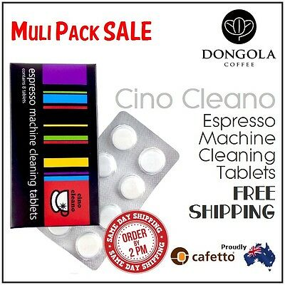 CINO CLEANO Espresso Coffee Machine Cleaning Tablets Clean Cleaner by Cafetto