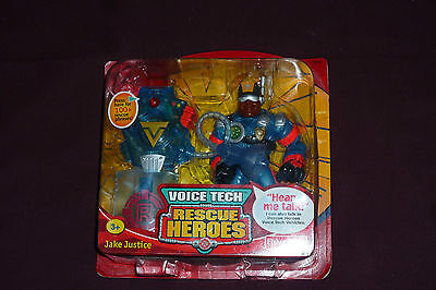 2000 Fisher Price Rescue Heroes Jake Justice With Voice Tech MISP NEW