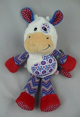 "Ganz Chloe The Cow Patchwork Stuffed Soft Toy 11"" Tall NWOT NK108 1st Edition"