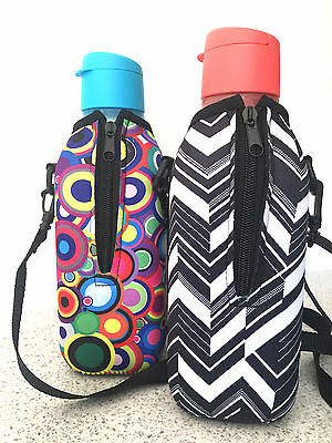 1L Kyca Sports Water Bottle Cover/cooler  Fits Square Tupperware Bottle