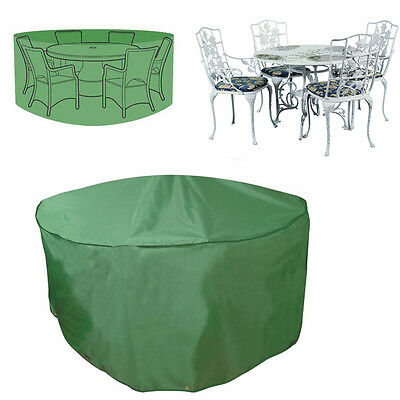 4-6 Seater Waterproof Outdoor Round Garden Furniture Cover Table Chair Shelter