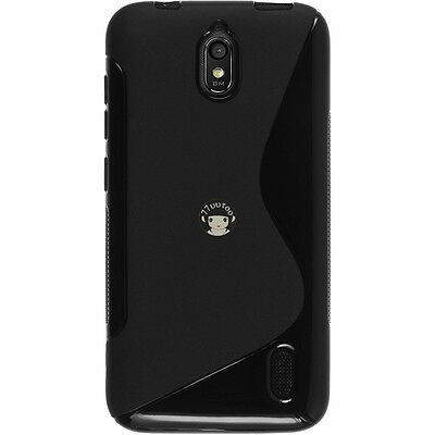 TPU Silicone Case For Huawei Ascend Y625 Black Rubber S Line Soft Gel Skin Cover