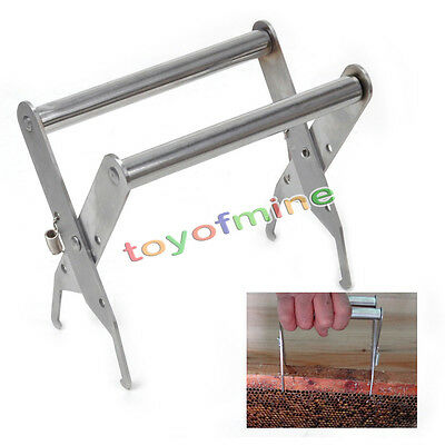 Stainless Steel Bee Hive Frame Holder Lifter Capture Grip Beekeeping Guard Tool
