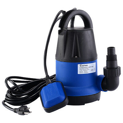 COSTWAY 1/3HP 1320GPH Submersible Clean Water Pump Flooding Pond Swimming Pool