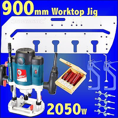 900mm Kitchen Worktop Jig 2050w Router cutter set bolts clamps template bedroom
