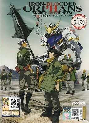 DVD Anime Mobile Suit Gundam: Iron-Blooded Orphans Complete TV Series 1-25 End