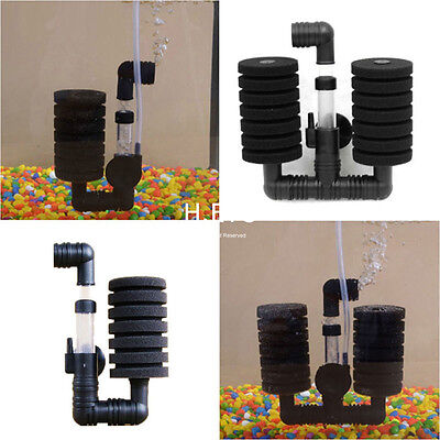 Biochemical Aquarium Filter Fish Tank Air Pump Super Sponge Filter Dual/Single