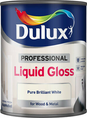 Dulux 750ml Professional Liquid Gloss Paint For Wood&Metal Pure Brilliant White