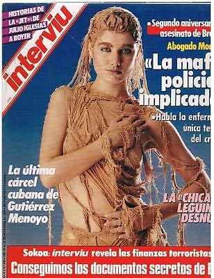 INTERVIU # 549 / IRACHE 6 pages pictorial - Spanish magazine 1986 - EX+