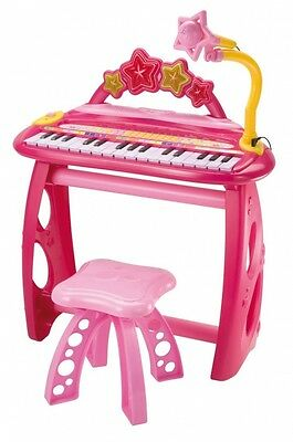 BONTEMPI Electronic Keyboard with Legs, Stool and Microphone. Free Shipping