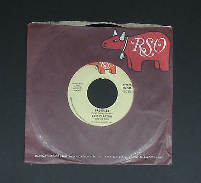 "ERIC CLAPTON  - 7""Single -Promises/Watch Out For Lucy,  EX+"