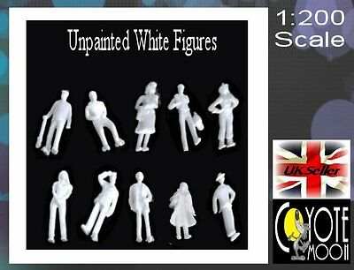 1:200 Scale Architecture Model White Figures People - Unpainted  Pack 1000 UK