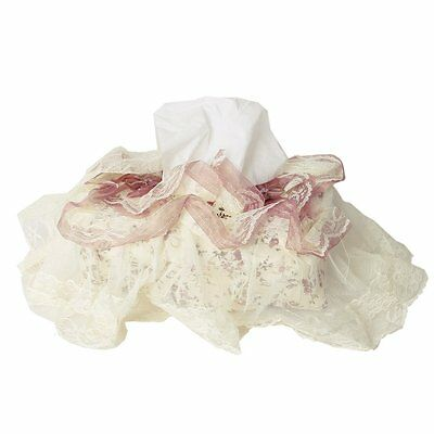 Pastoral Style Rectangle Lace Floral Tissue Box Cover Paper Holder W1