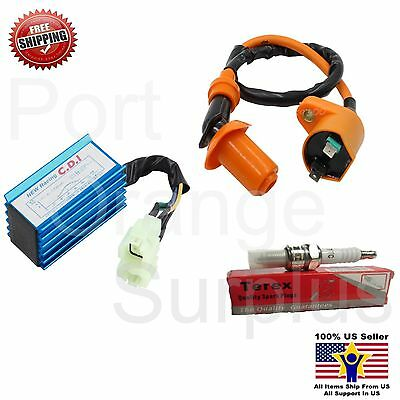 Gy6 50cc 150cc Scooter Ignition Coil + Racing performance 6 pins CDI box chinese