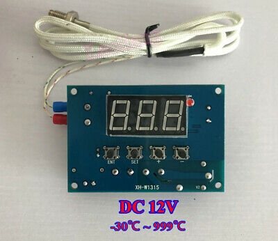 DC12V -30~999℃ Digital High Temperature Control Switch Thermostat K Thermocouple