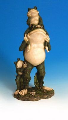 """Standing Frog with Kids 17"""" Figurine Statue Decoration - NEW"""