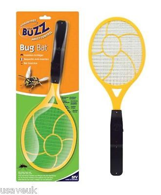 Buzz Electronic Fly Mosquito Bug Insect Killer Zapper Racket Bat