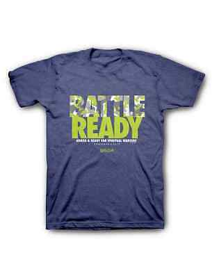 Men's Christian T-Shirt Battle ready purple