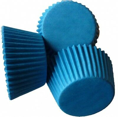 Scrumptious 51 x 38 mm Greaseproof Cupcake Cases, Bright Blue. Brand New