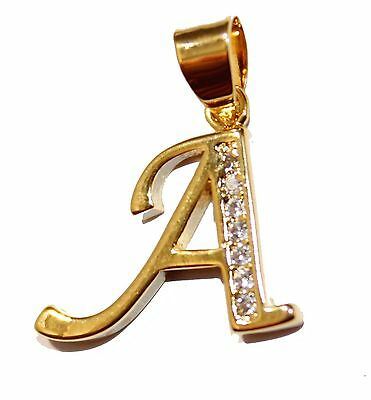 Initial Letter Necklace 18k Goldplated Necklace with 20 inch Chain