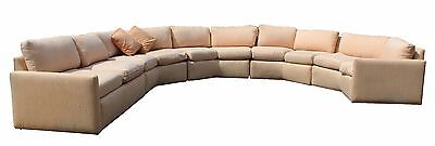 Mid Century Modern Bernhardt Custom Crafted 5 Piece Curved Sectional Sofa