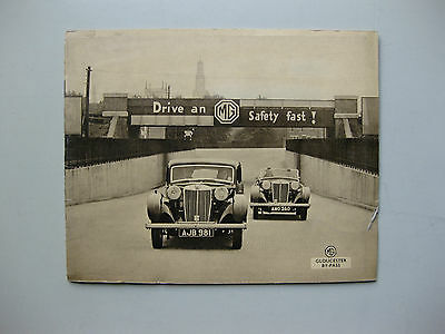 MG Range Midget 1,5litre VA Two litre 2,0 SA brochure Prospekt English text 1937