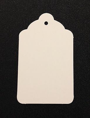 100 WHITE Jumbo UNStrung Scallop Clothing Furniture Merchandise Display Tags