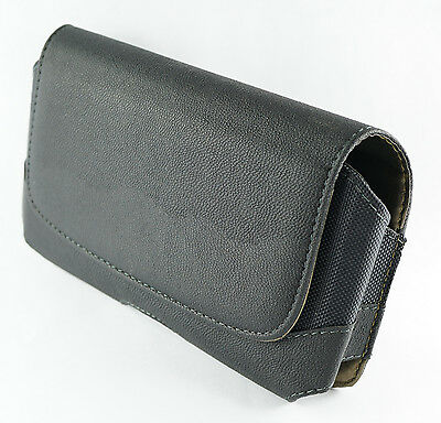 Buy one Get one Free Extra Large Size Leather Pouch Case w/Belt Clip Holster