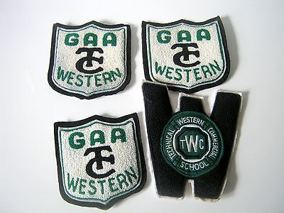 4 Western Technical Commercial Athletics Felt Crests