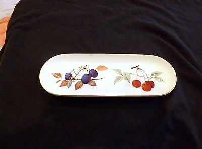 1961 Royal Worcester Evesham Gold Mint Tray or Dish Cherry and Plum