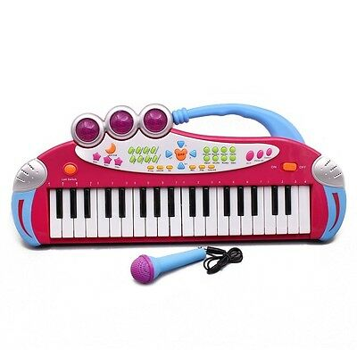 Childrens 37 Key Electronic Keyboard Piano Record & Play Demo Songs Music Toy. B