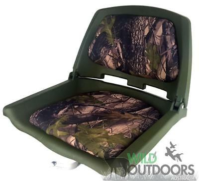 Camo Boat Seat - Folding - Includes metal swivel - Very Sturdy