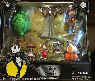 Disney Park Exclusive NIGHTMARE BEFORE CHRISTMAS Collectible Figures Set - NEW