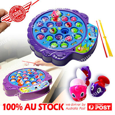Electric Musical Magnetic Plate Fishing/hunting ducks Game Pretend Play Toys