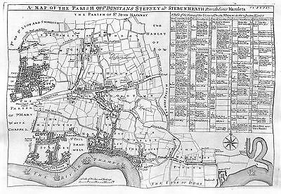 Antique maps, Parish of St Dunstans, Stepney als Stebunheath