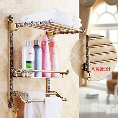 New !Aluminum Wall Mounted Utility Bathroom Storage Shelf / Towel ...