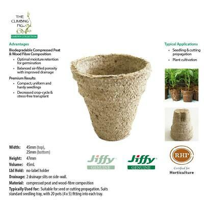 45mm Jiffy pots with slits. Ideal for plant seed seedling & cutting propagation.