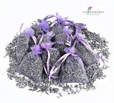 10 Lavender Lilac Bags Sachets Wardrobe Drawer Aromatic Repel Calming Air Fresh
