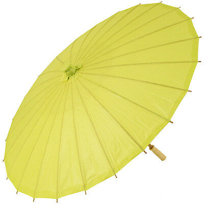 Chinese Paper and Bamboo Parasol - Lime Green