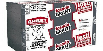 Expanded Polystyren Wall Insulation  EPS 70 1000x500x50 10 Sheets  Graphit