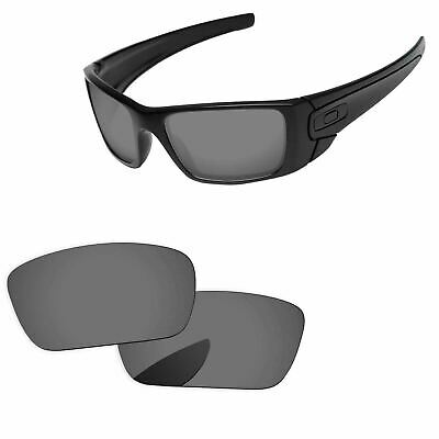 Black Iridium Polarized Replacement Lenses For-Oakley Fuel Cell Sunglass